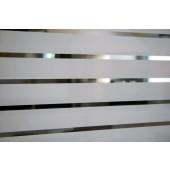 Película Decorativa Listra Branca 4,5x1,0cm Horizontal Detalhe